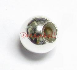 1x Sterling Silver SMART BEAD Round with rubber 5mm