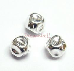 10x Sterling Silver Dented Hammered Bead Spacer 5mm