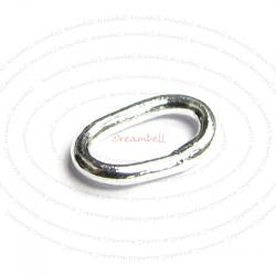 30x Sterling Silver Closed Soldered OVAL Jump Rings Wire 4mm x 6mm