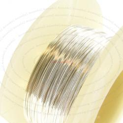 5FT STERLING SILVER Round WIRE 26GA Half Hard 26 Gauge 0.4mm