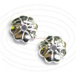 20X Bali Sterling silver Flower caps Bead 5.5mm