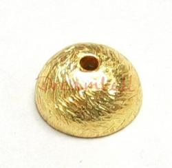 2x 22K Gold plated over Sterling Silver Bead Round Cap 8mm