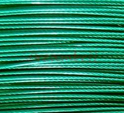 5 Meter EMERALD GREEN TIGER TAIL BEADING TIGERTAIL WIRE 0.4mm