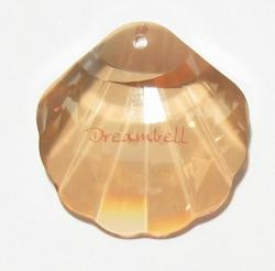 Swarovski Seashell 6723 Crystal Pendant 28mm Golden Shadow