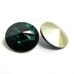2x Swarovski Elements Rivoli Stone Crystal 1122 Emerald 14mm