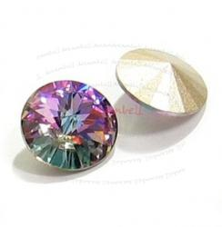 2x Swarovski Elements Rivoli Stone Crystal 1122 Vitrail Light 14mm