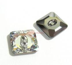 1x Swarovski Elements Crystal 3017 Square Button Beads Clear 12mm