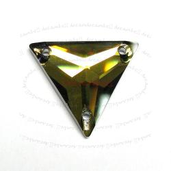 Swarovski Elements Crystal 3270 Tabac Sew-on Triangle 22mm