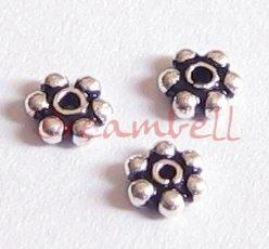 20x 925 BALI Sterling Silver DAISY SPACER Beads 3.5mm