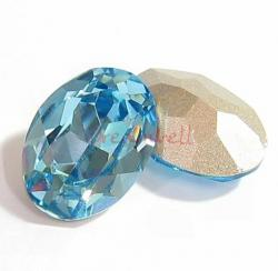 2x Swarovski Elements Oval Cabochon Stone Crystal 4120 Aquamarine 18x13mm