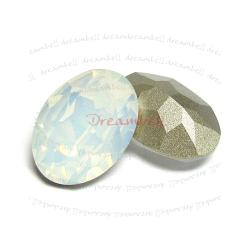 1x Swarovski Elements Oval Cabochon Stone Crystal 4127 White Opal 30mm x 22mm