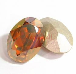 2x Swarovski Elements Oval Cabochon Stone Crystal 4120 Copper 18mm x 13mm