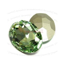 1x Swarovski Elements Oval Cabochon Stone Crystal 4127 Chrysolite 30mm x 22mm