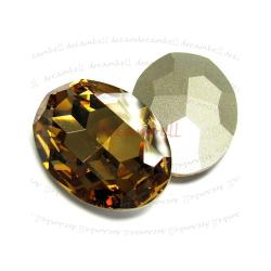 1x Swarovski Elements Oval Cabochon Stone Crystal 4127 Light Colorado Topaz 30mm x 22mm