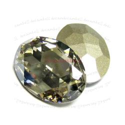1x Swarovski Elements Oval Cabochon Stone Crystal 4127 Silver Shade 30mm x 22mm