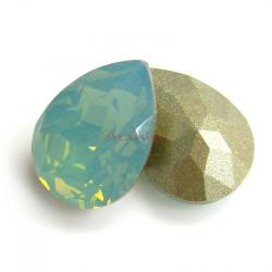 2x Swarovski Elements Olive Pear Stone Crystal 4320 Pacific Opal Foiled 14mm X10mm