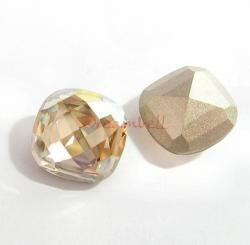 2x Swarovski Elements 4461 Crystal 16mm Classic Square Cabochon Golden Shadow
