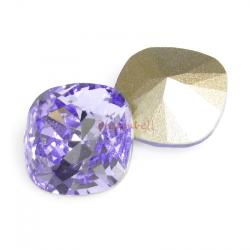 2x Swarovski Elements Crystal 12mm 4470 Cushion Square Provence Lavender Foiled Stone