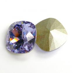 2x Swarovski Elements Crystal 12mm 4470 Cushion Square Violet Foiled Stone