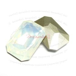 1x Swarovski Elements Octagon Cabochon Stone Crystal 4627 White Opal 27mm x 18.5mm