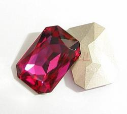 1x Swarovski Elements Octagon Cabochon Stone Crystal 4627 Fuchsia 27mm x 18.5mm