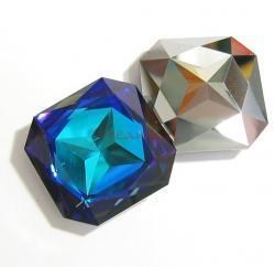 1x Swarovski Elements Square Stone Crystal 4675 Heliotrope 23mm