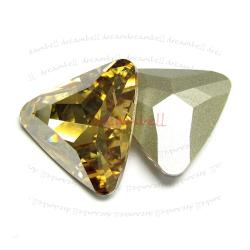1x Swarovski Elements Triangular Cabochon Stone Crystal 4727 Golden Shadow 23mm