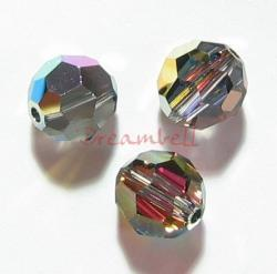 6 Swarovski Crystal Elements 5000 Round Bead 8mm Vitrail Medium