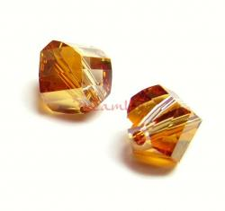 6x Swarovski Elements5020 Clear Helix Copper Crystal Elements 8mm