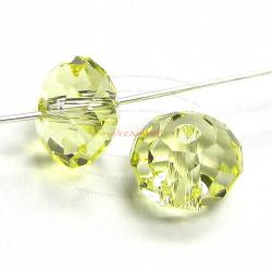 6x Swarovski Crystal Elements 5040 Briolette Bead Rondelle Spacer Jonquil 6mm