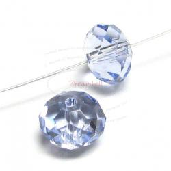 6x Swarovski Crystal Elements 5040 Briolette Bead Rondelle Spacer Provence Lavender 6mm