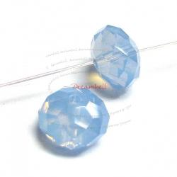 4x Swarovski Crystal Elements 5040 Briolette Bead Rondelle Spacer Air Blue Opal 8mm