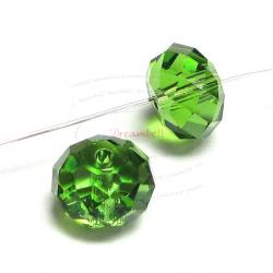 4x Swarovski Crystal Elements 5040 Briolette Bead Rondelle Spacer Fern Green 8mm