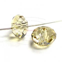 2x Swarovski Crystal Elements 5040 Briolette Bead Rondelle Spacer Golden Shadow 12mm