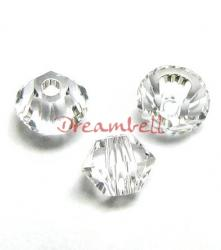 24 x Swarovski Elements Xilion Crystal 5328 Clear 4mm