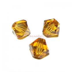 24 x Swarovski Elements Xilion Crystal 5328 Topaz 4mm