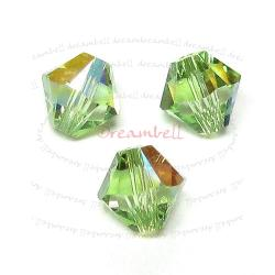 72x Swarovski Elements Bicone Xilion Crystal 5328 Peridot AB 4mm