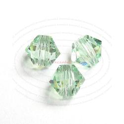 72x Swarovski Elements Xilion Crystal 5328 Chrysolite AB 4mm