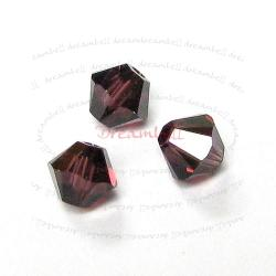 24x Swarovski Elements Xilion Crystal 5328 Burgundy 4mm