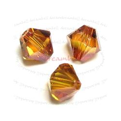 72x Swarovski Elements Xilion Crystal Beads 5328 Copper 3mm
