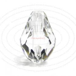 2x Swarovski Elements Crystal 5500 Teardrop Briolette Beads Clear