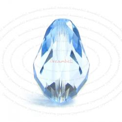 2x Swarovski Elements Crystal 5500 Teardrop Briolette Beads Aquamarine