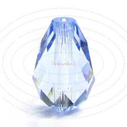 2x Swarovski Elements Crystal 5500 Tear Drop Briolette Beads Lt. Sapphire