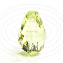 2x Swarovski Elements Crystal 5500 Teardrop Briolette Beads Jonquil