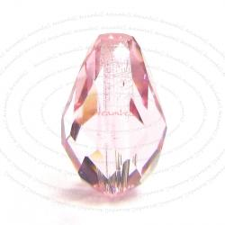 2x Swarovski Elements Crystal 5500 Tear Drop Briolette Beads Light Rose