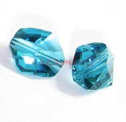 2x Swarovski Elements Crystal 5523 Cosmic Beads 12mm Indicolite