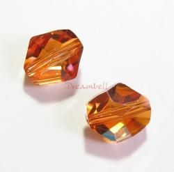 2x Swarovski Elements Crystal 5523 Cosmic Beads 12mm Copper