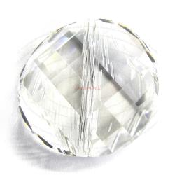 2x Swarovski Elements Crystal 5621 Twist Bead Crystal Clear 14mm