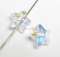 4x Swarovski Elements Crystal 5714 Star Clear AB 8mm New