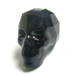 1x Swarovski Elements Crystal 5750 Skull Bead Jet Black 13mm